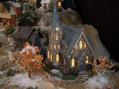 homeade lifesize thinas kinkade christmas tree villagescapes by fantasies a preview from villagescapes past
