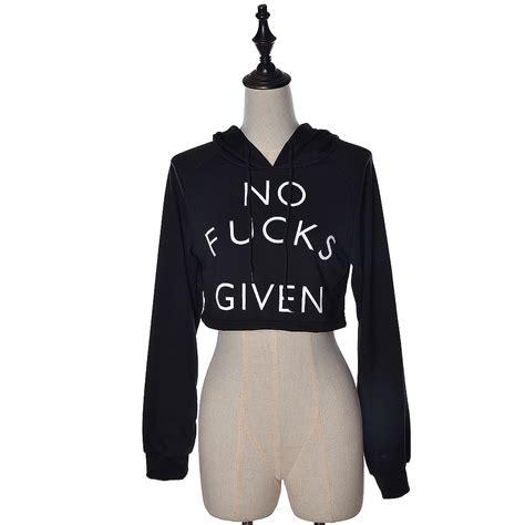 Letter Print Midriff Tops by Womens Letter Print Crop Top Sleeve Hoodie Sweatshirt