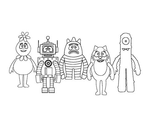 nick jr yo gabba gabba coloring pages free coloring pages of dj lance