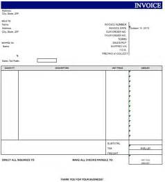 Invoice Template Microsoft Excel by Search Results For Free Blank Invoice Template Microsoft