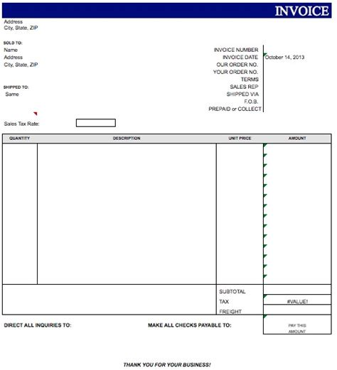 blank invoice templates search results for free blank invoice template microsoft