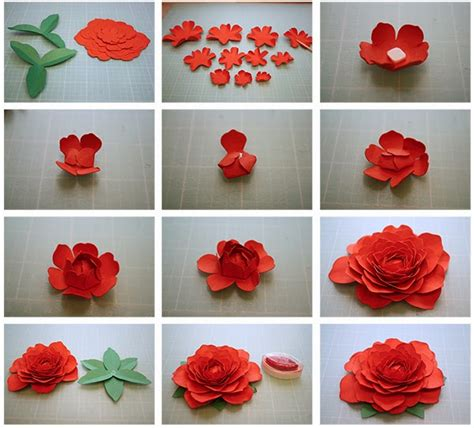 How To Make A 3d Flower Out Of Construction Paper - bits of paper more 3d paper flowers