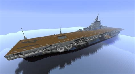 How To Make A Aircraft Carrier Out Of Paper - aircraft carrier uss ticonderoga cv 14 minecraft