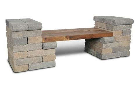 brick bench diy diy cinder block paver bench gardening farming pinterest
