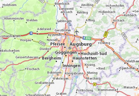 map augsburg germany augsburg map detailed maps for the city of augsburg