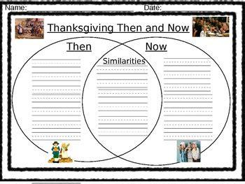 thanksgiving then and now venn diagram thanksgiving venn diagram quot then and now quot 2 by laurrich821