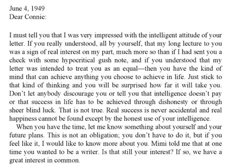 Apology Letter To Niece An Actual Letter Ayn Rand Wrote To An Actual The Toast