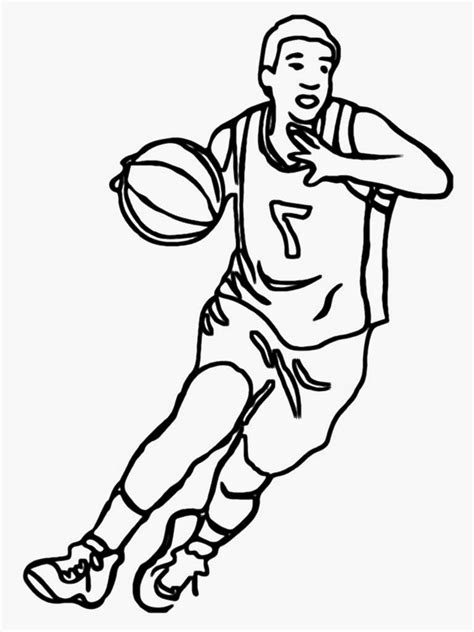 coloring pages nba basketball players basketball player coloring pages realistic coloring pages