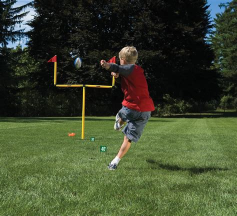 soccer backyard backyard football field goal posts outdoor furniture