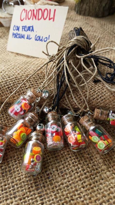 ciondoli porta fortuna ciondoli bottiglietta in vetro con frutta portafortuna