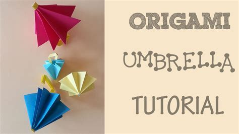 How To Make Paper Umbrella - origami umbrella tutorial