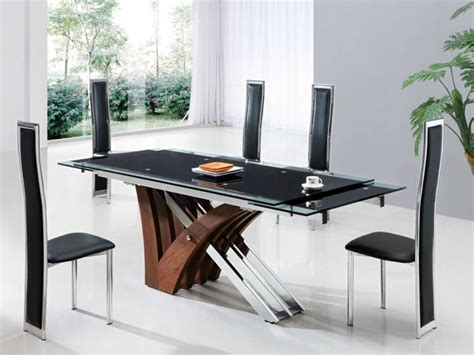 very original black glass dining table home improvement