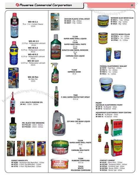 Plumbing Materials Price List by Cleaning Consumables Wd 40 Steel Epoxy Wood Glue Roof