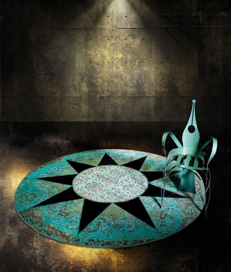 tappeto contemporaneo rotondo italy design
