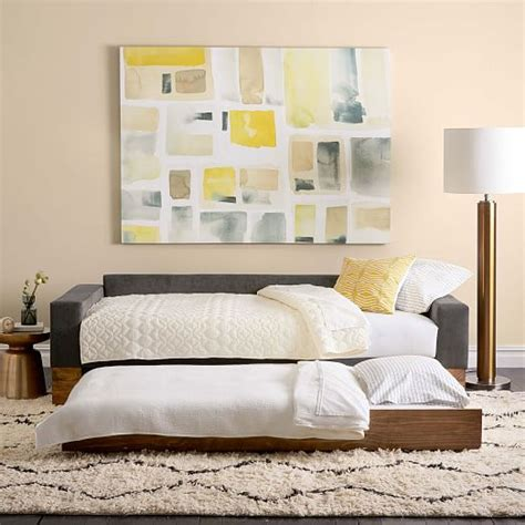 Daybed Sofa With Trundle by Emery Sofa Daybed Trundle West Elm