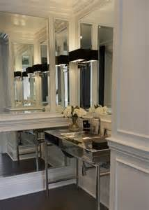 Mirrored Bathrooms Chrome Washstand Contemporary Bathroom P2 Design