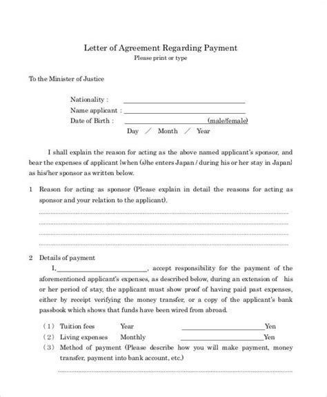 Letter Of Agreement In School Agreement Letter Exles