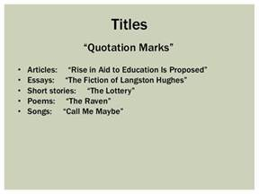 Quote Article Title In Essay by 09 24 Quotations And Titles