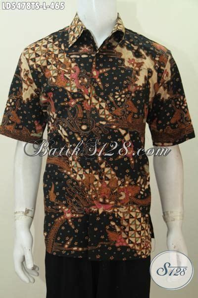 Baju Jubah Pendek Lelaki baju batik lelaki dewasa ukuran l pakaian batik premium lengan pendek motif mewah proses tulis