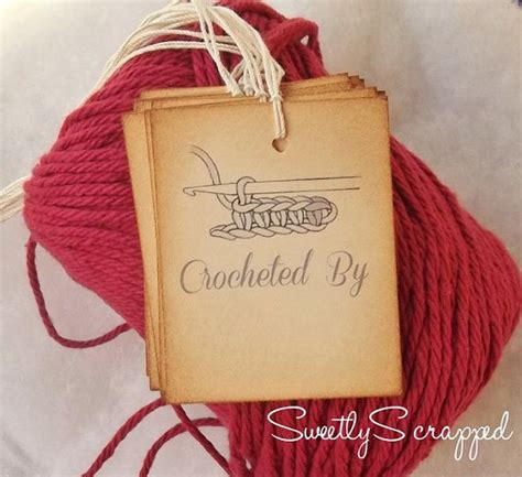 Handmade Tags For Crafts - 17 best crochet tags images on