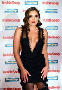 olympia valance wears a plunging dress to inside soap