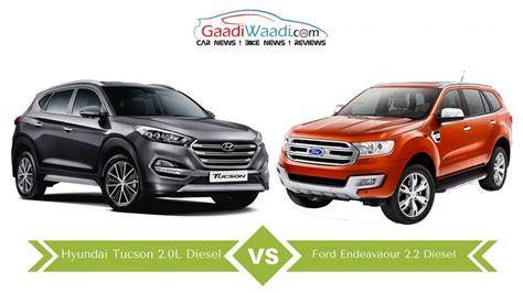 Ford Endeavour 2.2 vs Hyundai Tucson 2.0 ? Specs Comparison