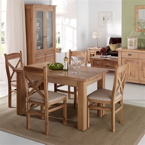 tuscany contemporary small oak dining table french