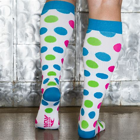 Polka Socks polka dot compression knee socks for a run