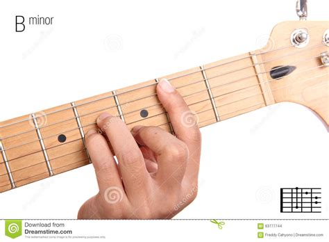 tutorial in guitar b minor guitar chord tutorial stock photo image of minor