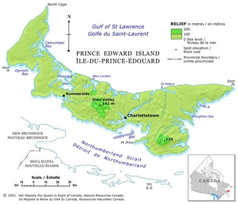 prince edward island map of canada map of canada regional city in the wolrd prince edward