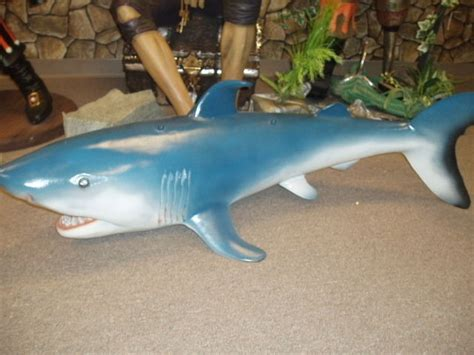 baby shark jaws shark statue life size baby jaws hanging ebay