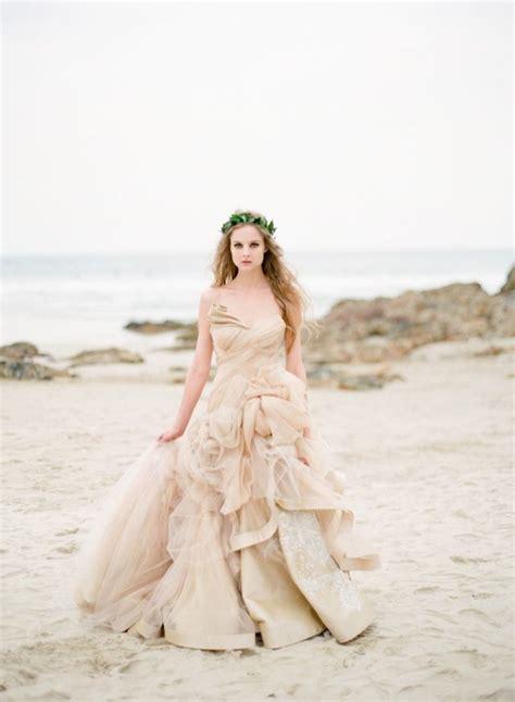 beach wedding dress peach wedding dress