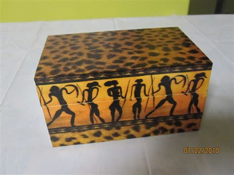 Wooden Decorations For Home Wooden Box With African Motifs