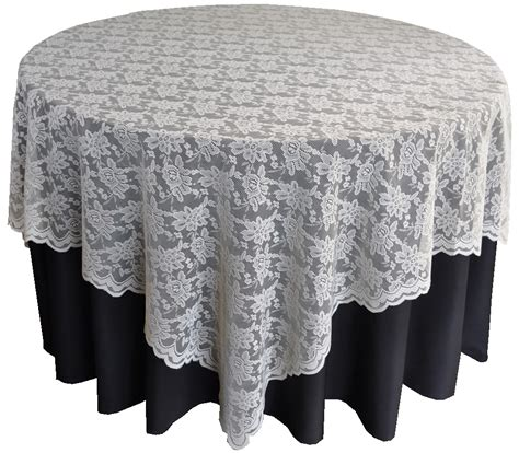 ivory lace table overlay toppers wedding 72 quot