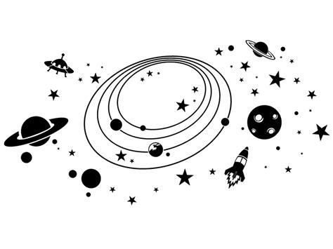 wandtattoo weltall mit sternen planeten wandtattoos de