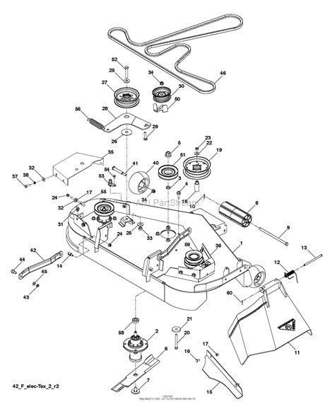 husqvarna mower parts diagram husqvarna yth2242 tdrf 96041023703 2013 05 parts