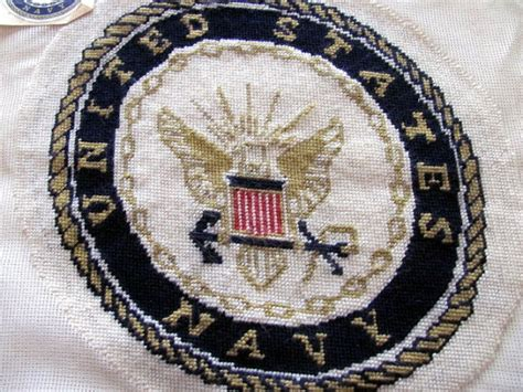 needlepoint navy united states navy emblem needlepoint by theneed4tweed
