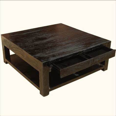 Coffee Table Drawer Large Rosewood Classic Square Espresso Coffee Table Handmade Table Traditional Interior And