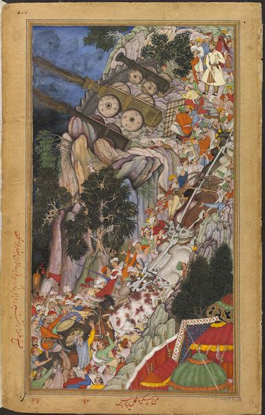L Use An Blumen 4425 by Mughal Painting And The Akbarnama Miskina And Mukund