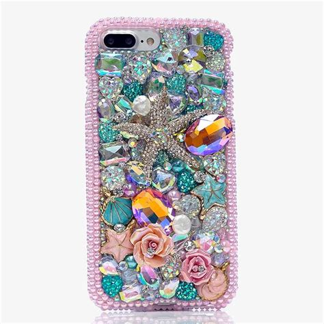 Po Custom The Sea For Iphone Samsung Oppo Xiaomi Asus Dll bling cases custom made sea crystals for iphone 7 7 plus iphone 8 samsung galaxy