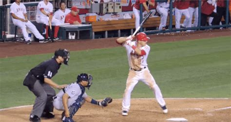 mike trout baseball swing the good behind a bad pitch baseball rebellion