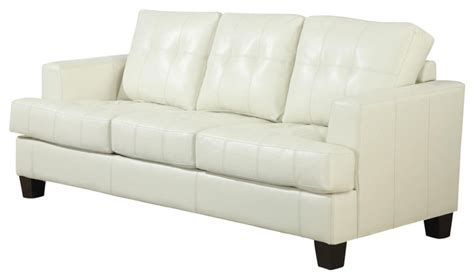 cushions for cream leather sofa bonded leather upholstered samuel sofa sleeper w tufted