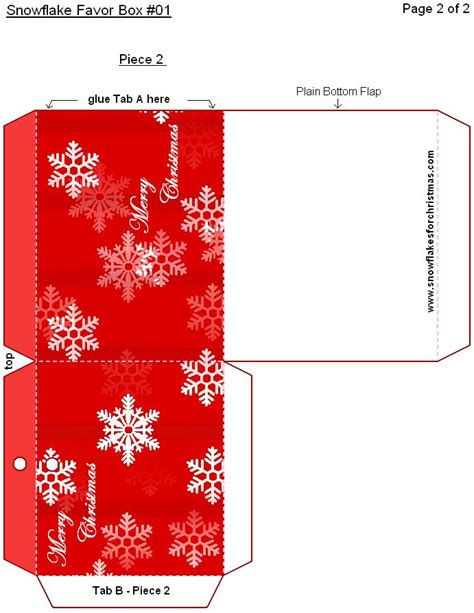 templates for christmas boxes snowflake favor boxes free printable snowflakes for
