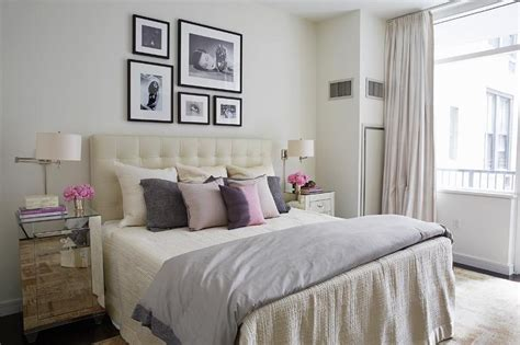 pink and brown girls bedroom with gray tufted beds contemporary bedroom with mirrored nightstands