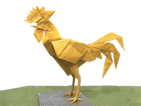 origami rooster this week in origami december 4 2015 edition