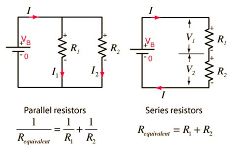 resistors in series vs in parallel physics for spm series and parallel circuits