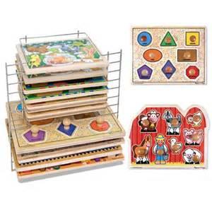 and doug jumbo knob puzzle set with large shapes