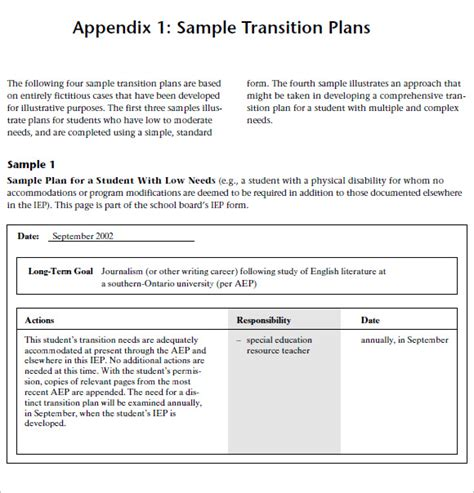 transition report template 40 transition plan templates career individual template
