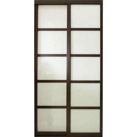 Sliding Closet Door Frame Wood Sliding Doors Interior Closet Doors The Home Depot