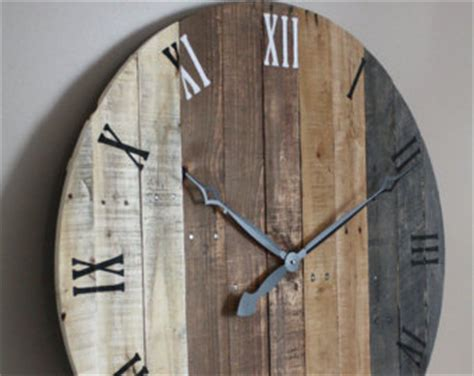 artisan pallet wood clocks reclaimed wood by terrafirma79
